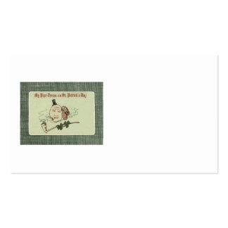 Frauen-Vollmond-Kleeblatt-Lehm-Rohr Visitenkarten