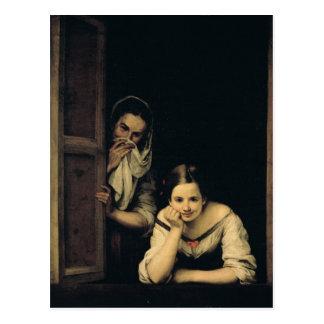 Frauen von Galizien am Fenster, 1670 Postkarte