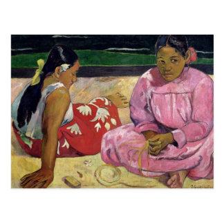 Frauen von Tahiti, auf dem Strand, 1891 Postkarte