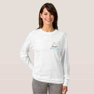 Frauen-weißer langer Hülsen-Ian-Winter T-Shirt