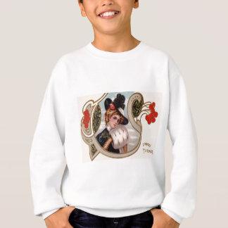 Frauen-Winter-Stechpalmen-Rosen-Mistelzweig Sweatshirt