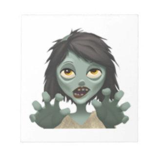 Frauen-Zombie - Emoji Notizblock