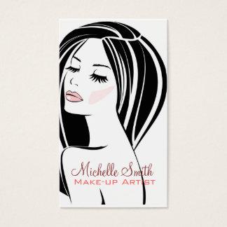 Frauengesicht Maskenbildner-Visitenkarte Visitenkarten