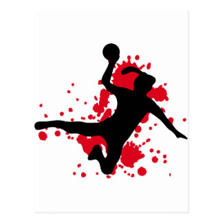 Frauenhandball Handballzeichen Postkarte