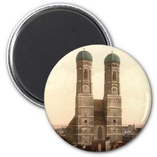 Frauenkirche, München, Bayern, Deutschland Runder Magnet 5,1 Cm