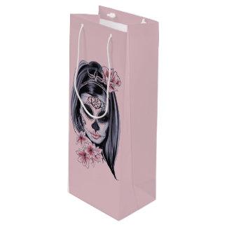 Frauenskelettmaske Geschenktüte Für Weinflaschen
