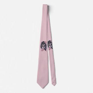 Frauenskelettmaske Krawatte