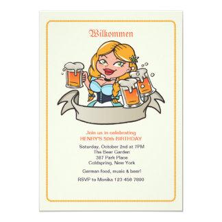 Fräulein Bier-Garten-Einladung 12,7 X 17,8 Cm Einladungskarte