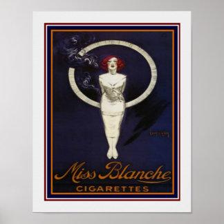 Fräulein Blanche Vintage Cigarette Ad 11 x 14 Poster