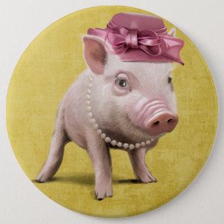 Fräulein Piggy Runder Button 15,3 Cm