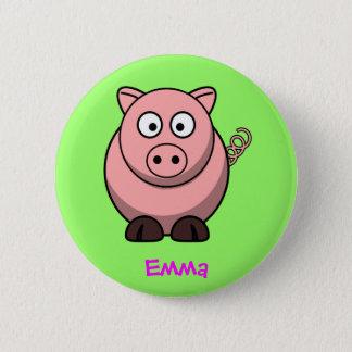 Fräulein piggy runder button 5,7 cm