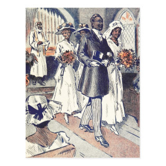 Fräulein Samantha Johnson Wedding Postkarte