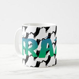FRAZZ! Schwarze Katzen-Tasse Kaffeetasse
