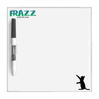 Frazz! Schwarze Katzen-trockenes Löschen-Brett Trockenlöschtafel