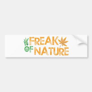 Freak der Natur Autoaufkleber