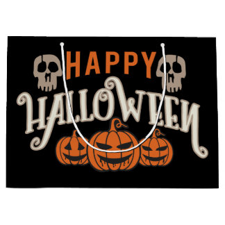 Freaky Jack o Laterne. Halloween-Partei Große Geschenktüte