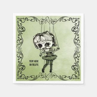 Freaky Marionetten-Puppe Serviette