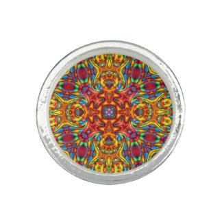 Freaky Tiki Kaleidoskop-   Gewohnheits-Ringe Ring