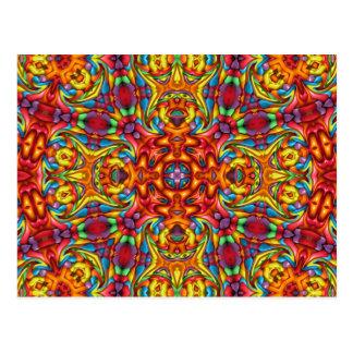 Freaky Tiki Kaleidoskop-    Postkarten