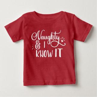 frech und ich kennen Sie es lustiges Weihnachten Baby T-shirt