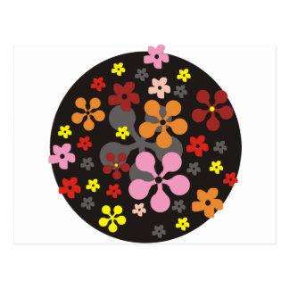 Freche Blumen Postkarte