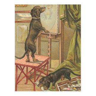 Freche Dackel-Postkarte Postkarte