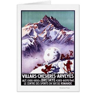 Freche Gnomes, die riesiges Schneeball-Plakat Karte