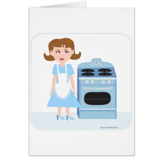 Freche Jahr-Hausfrau Karte
