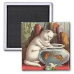 Freche Katzen - Fischen-Katzen-Kühlschrankmagnet