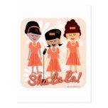 Freche Sechziger-Mädchen-Gruppe Postkarte