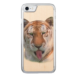Freche Tiger-Katze Carved iPhone 8/7 Hülle