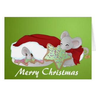 Freche und schüchterne Weihnachtsmäuse Karten