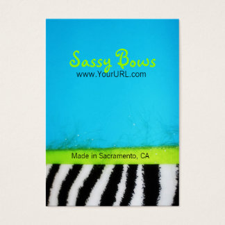 Frecher Bogenblaue Zebra-Bogen-Anzeigen-Karte Visitenkarte