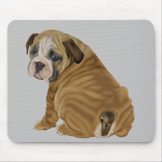 Frecher englischer Bulldoggen-Welpe Mousepad