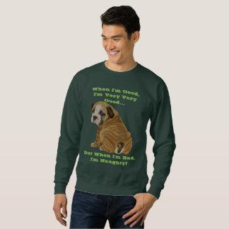 Frecher englischer Bulldoggen-Welpe Sweatshirt
