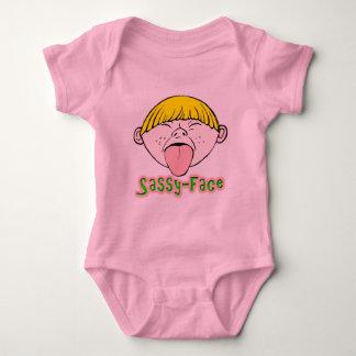 Frecher Gesichts-Junge Baby Strampler