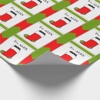 Frecher Jungen-Weihnachten Geschenkpapier