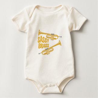 Frecher Messing Baby Strampler