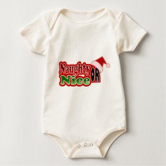 Frecher Nizza Weihnachtstext-Entwurf Baby Strampler