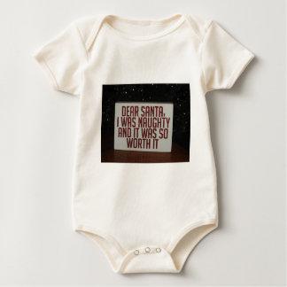 FRECHER SANKT-WEIHNACHTSdekor Baby Strampler