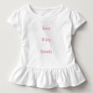 Freches, geistreiches, Spunky Rüschet-stück Kleinkind T-shirt