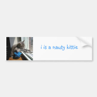 Freches Kätzchen Autoaufkleber
