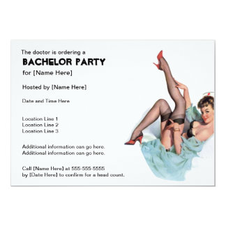 Freches Krankenschwester-Junggeselle-Party lädt 12,7 X 17,8 Cm Einladungskarte