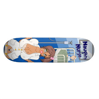 Freches Krankenschwester-Skateboard Personalisiertes Skateboard