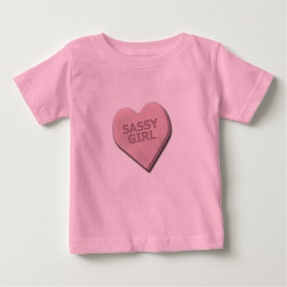 Freches Mädchen Baby T-shirt