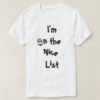 Freches oder Nizza Listen-Katzen-Feiertags-Shirt