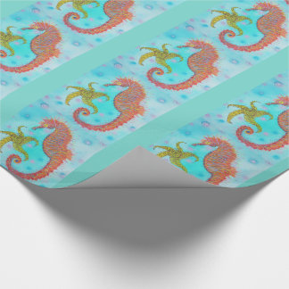 Freches Seepferd Geschenkpapier