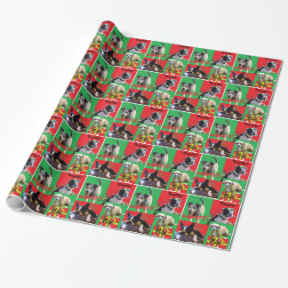 Freches und Nizza HundeweihnachtsPackpapier Geschenkpapier