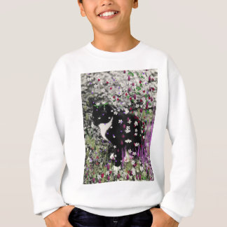 Freckles in den Blumen I - Tuxedokitty-Katze Sweatshirt