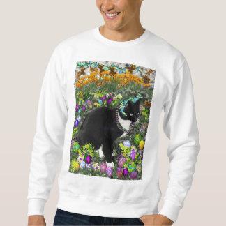 Freckles, Tux-Katze, in der Jagd für Ostereier Sweatshirt